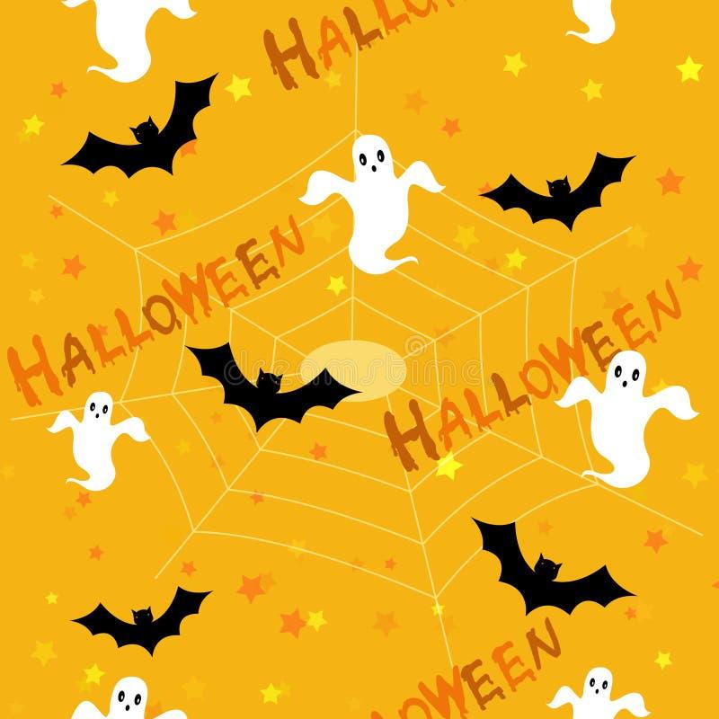 Halloween wzór tła ilustracja wektor