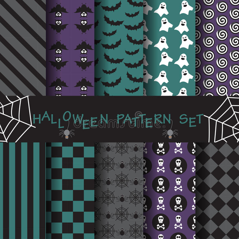 Halloween wzór ustawia 13 ilustracji