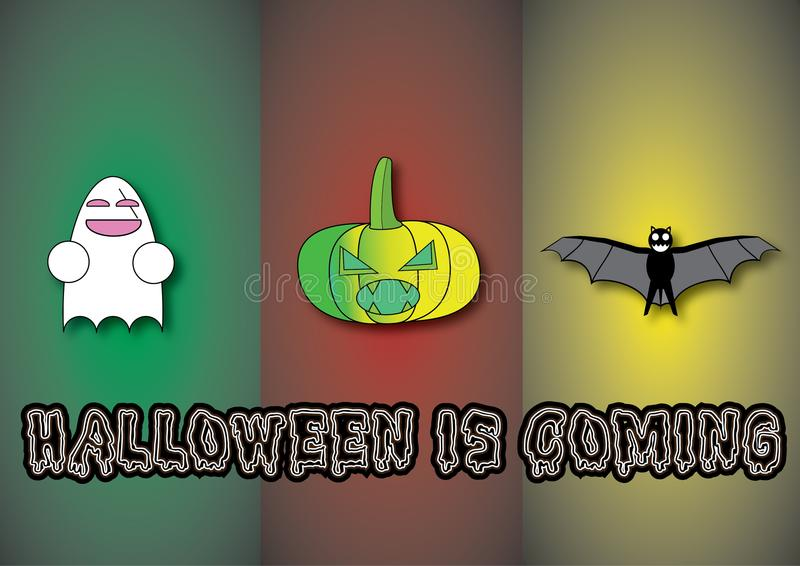 Halloween z różnym charakterem zdjęcia stock