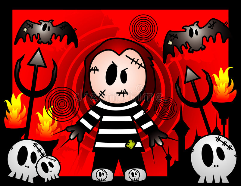 halloween zabójcy wektor royalty ilustracja