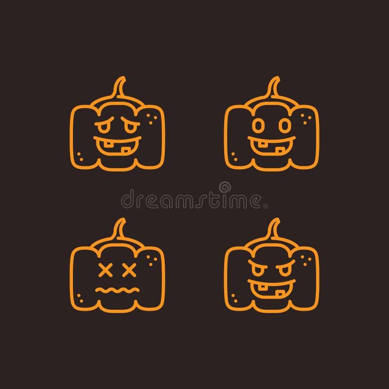 Halloween Zarysowywał ilustracji