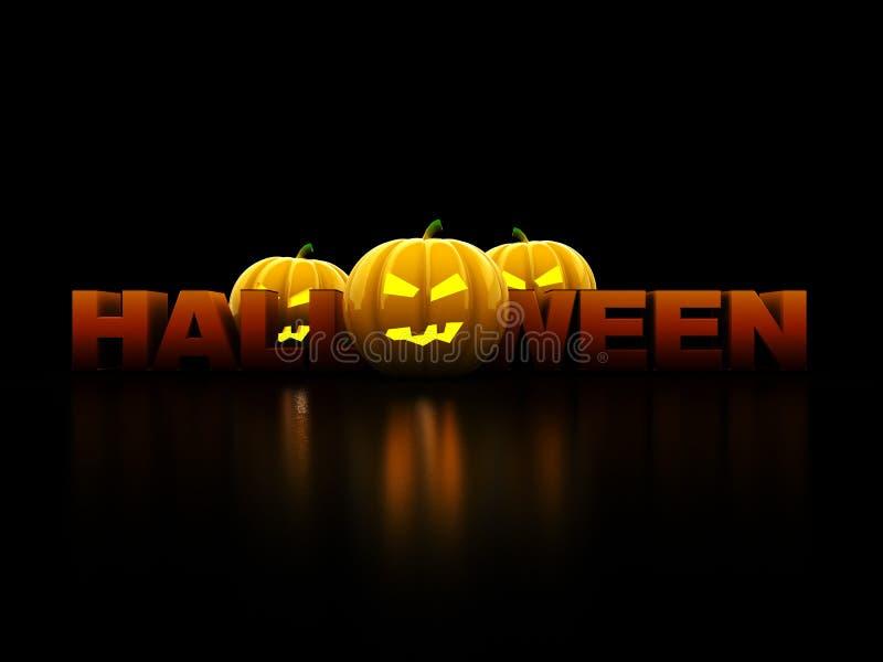 Halloween-Zeichen lizenzfreie abbildung