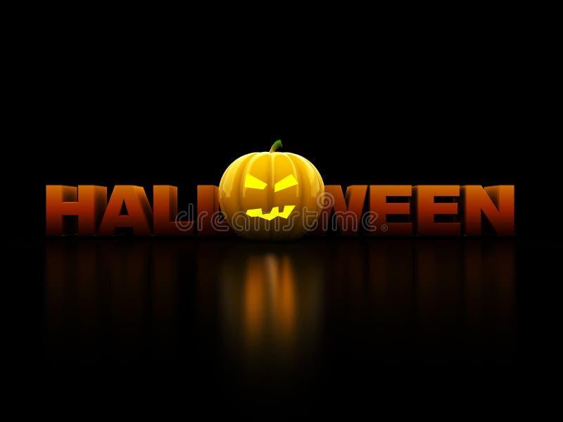 Halloween-Zeichen stock abbildung