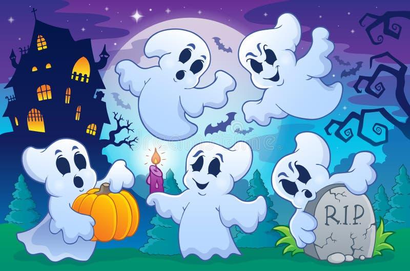 Halloween-Zeichenbild 7 stock abbildung