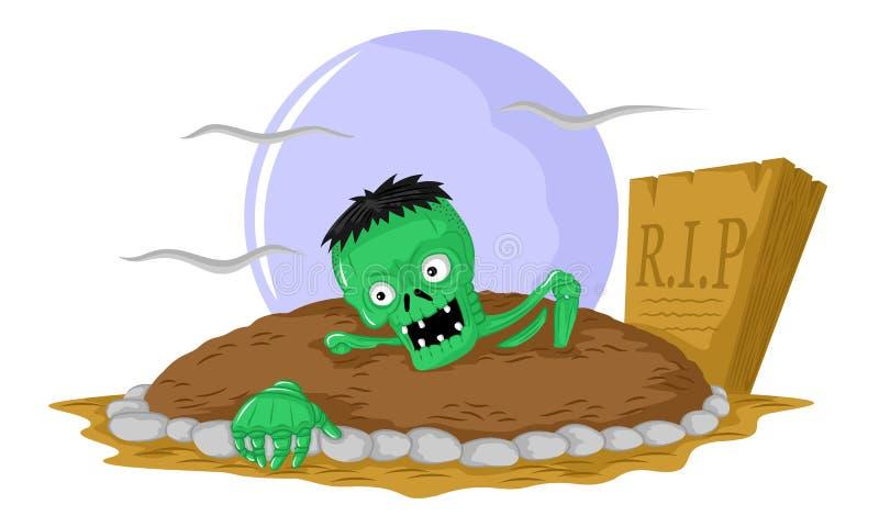 Halloween zieleni żywi trupy ilustracja wektor