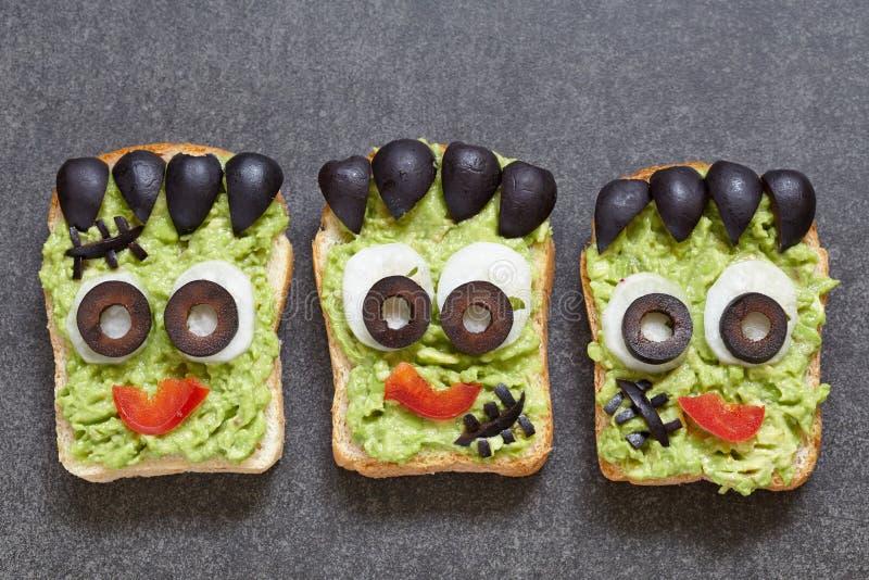 Halloween zieleni potwora kanapka obrazy royalty free
