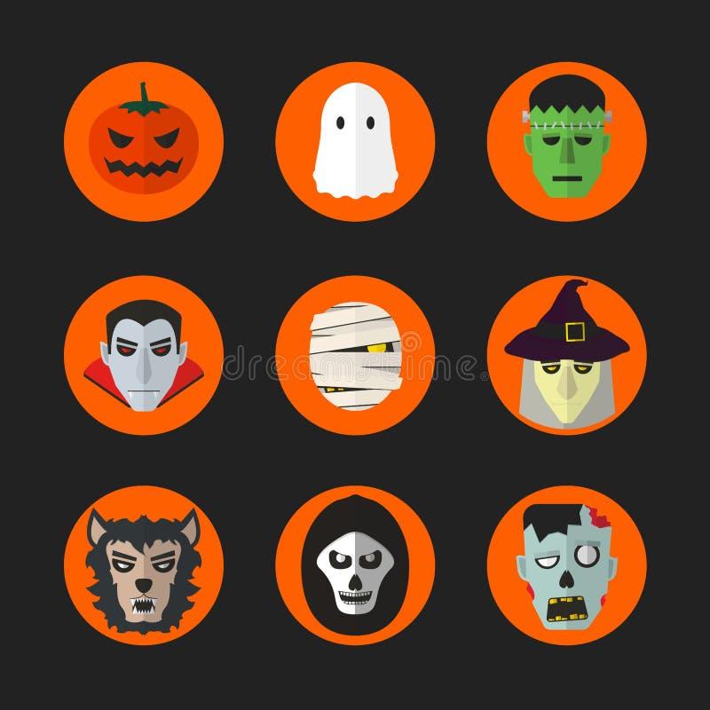 Halloween ziet 001 onder ogen royalty-vrije illustratie