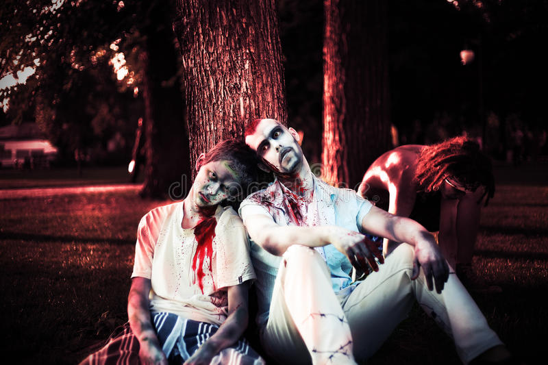 Download Halloween zombie stock image. Image of darkness, band - 26043977