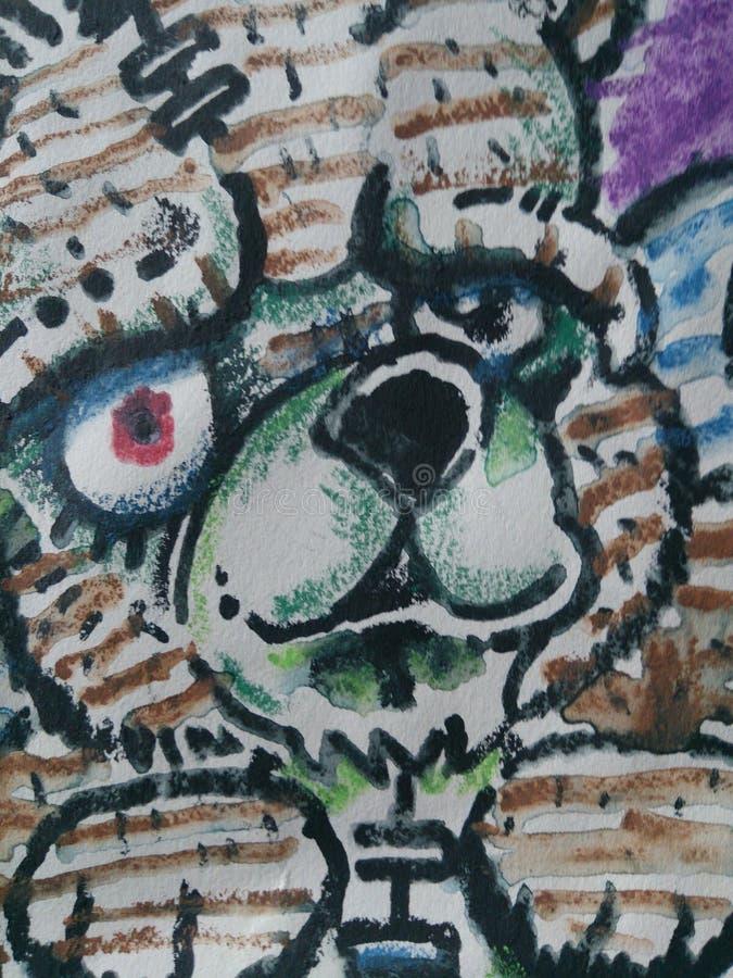 Halloween-Zombie-Teddybär lizenzfreies stockfoto