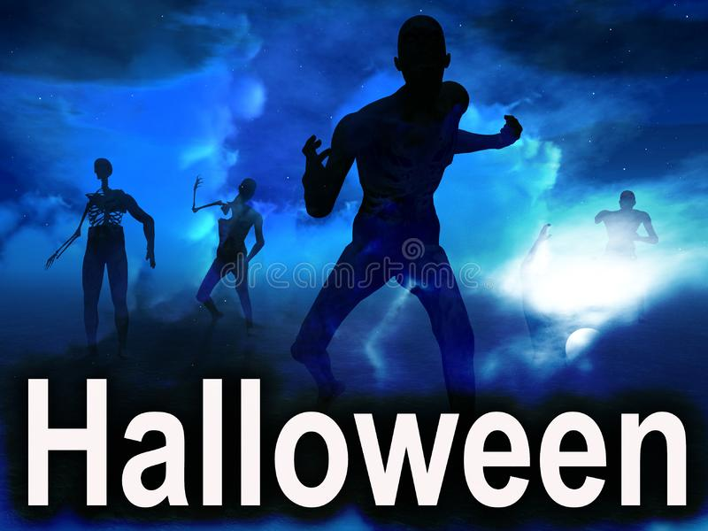 Halloween Zombies 3 royalty free stock photos