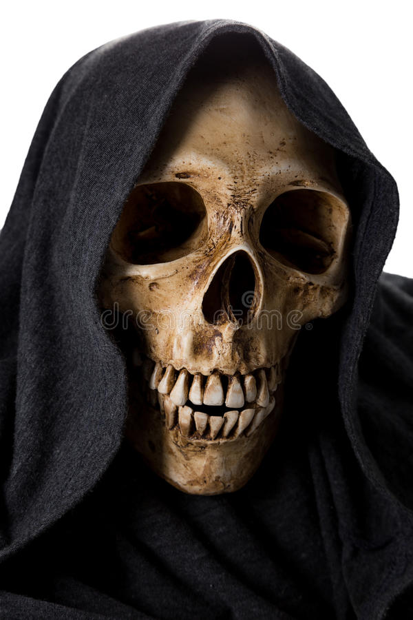 Halloweenowa śmiertelna kościec głowa obrazy stock