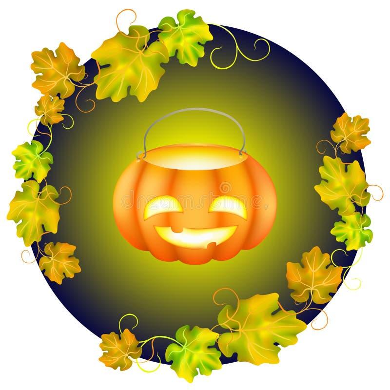 Halloweenowa bani karta royalty ilustracja