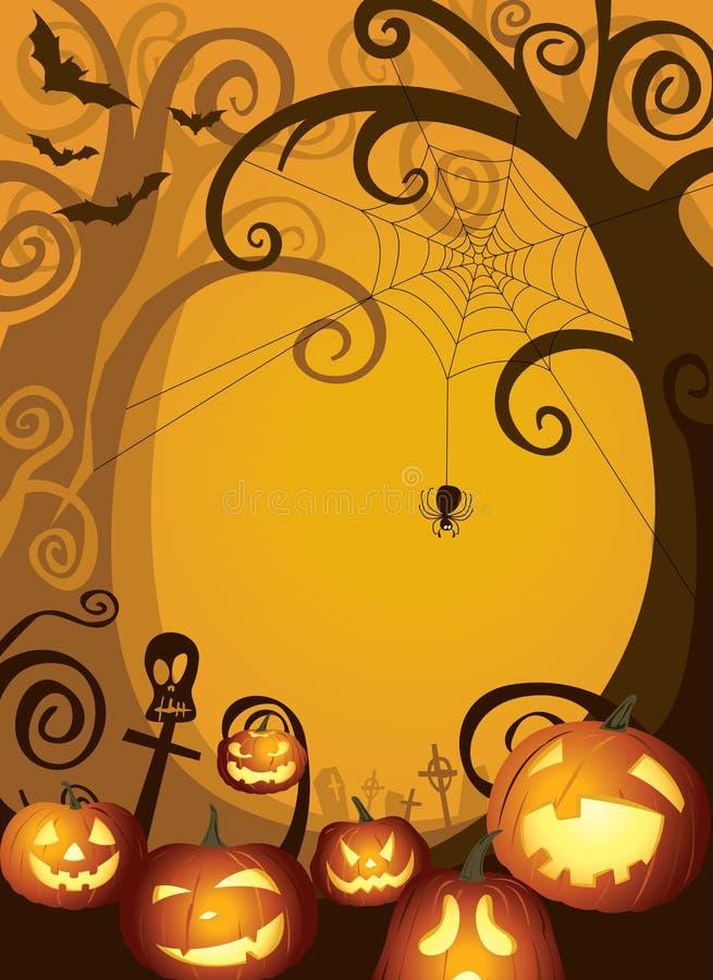 Halloweenowa bania projekta tła ilustracja ilustracji