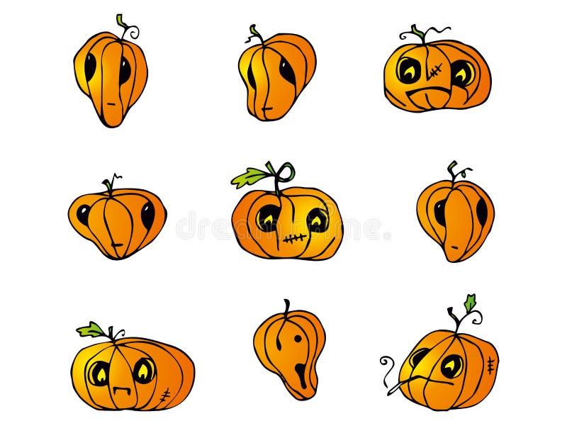 Halloweenowa bania wektoru paczka obrazy royalty free