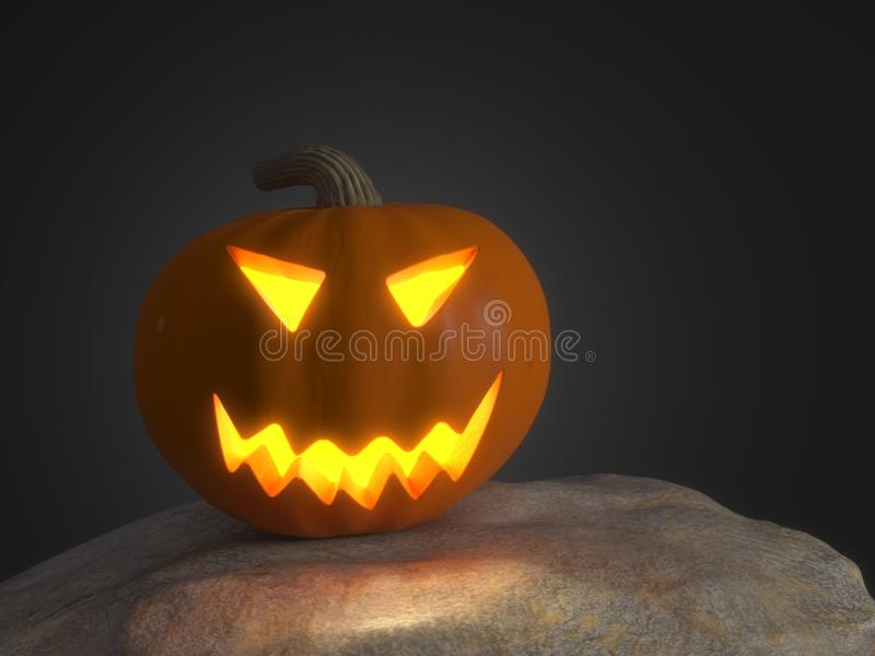 Halloweenowa bania z jarzyć się oczy zdjęcia stock