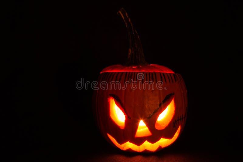 Halloweenowa bania z malującymi eybrows i włosy obrazy stock