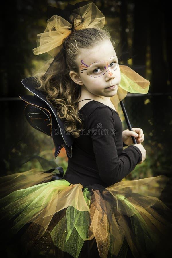 Halloweenowa czarodziejka zdjęcia stock