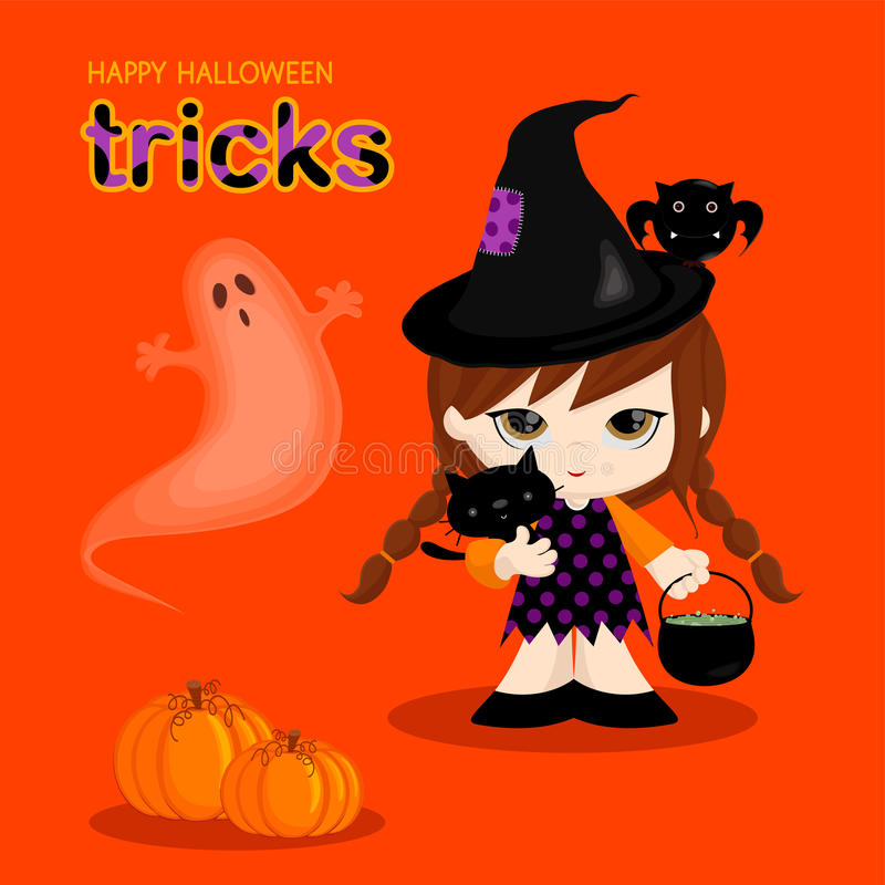 Halloweenowa Czarownica ilustracji
