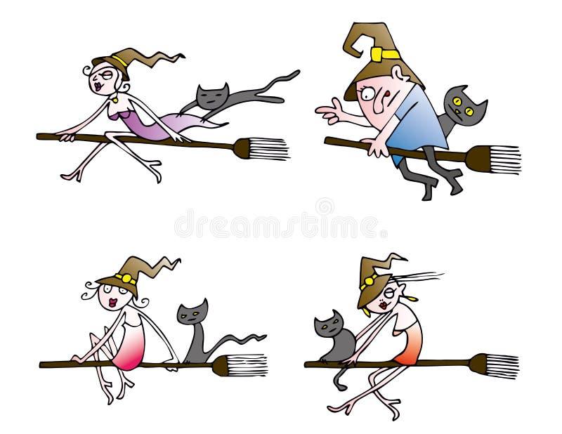 Halloweenowa czarownica wektoru paczka obrazy stock