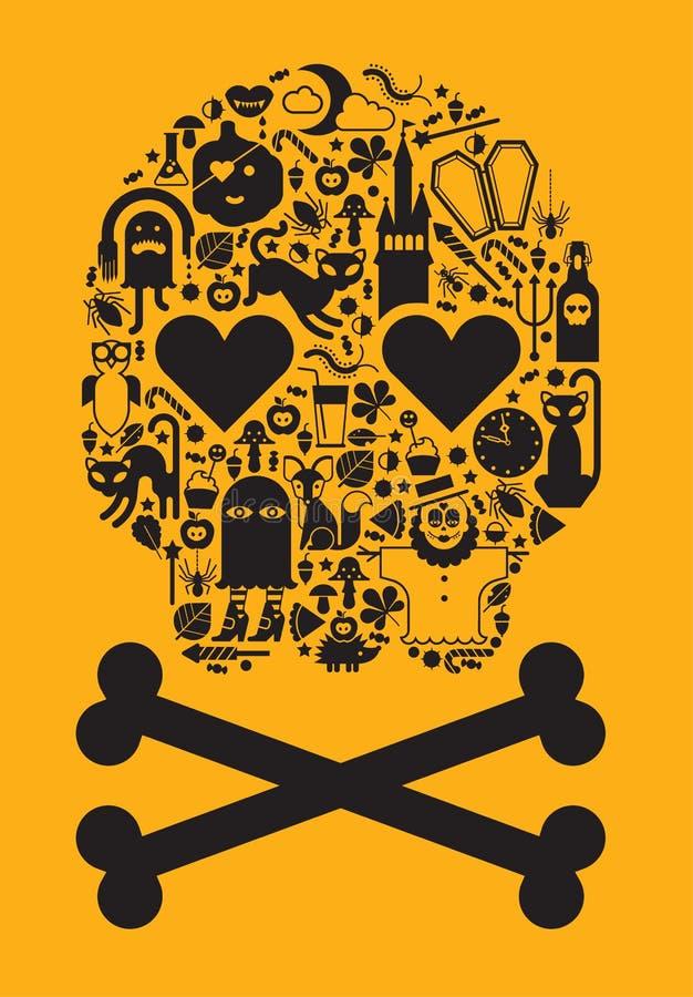 Halloweenowa czaszka ilustracji