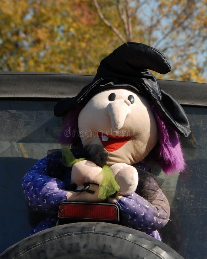 Halloweenowa dekoracja na Tylni oponie obrazy royalty free