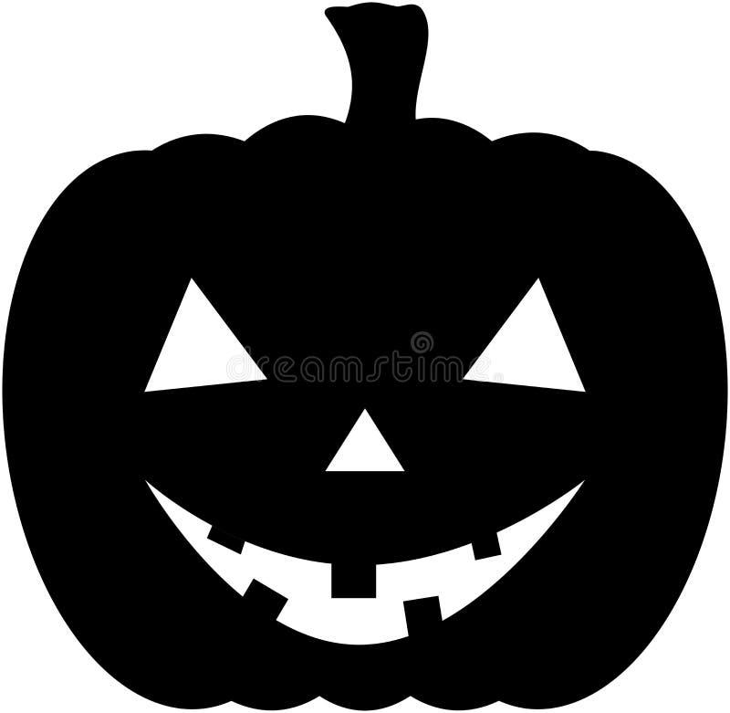 Halloweenowa dyniowa ikony sylwetka royalty ilustracja