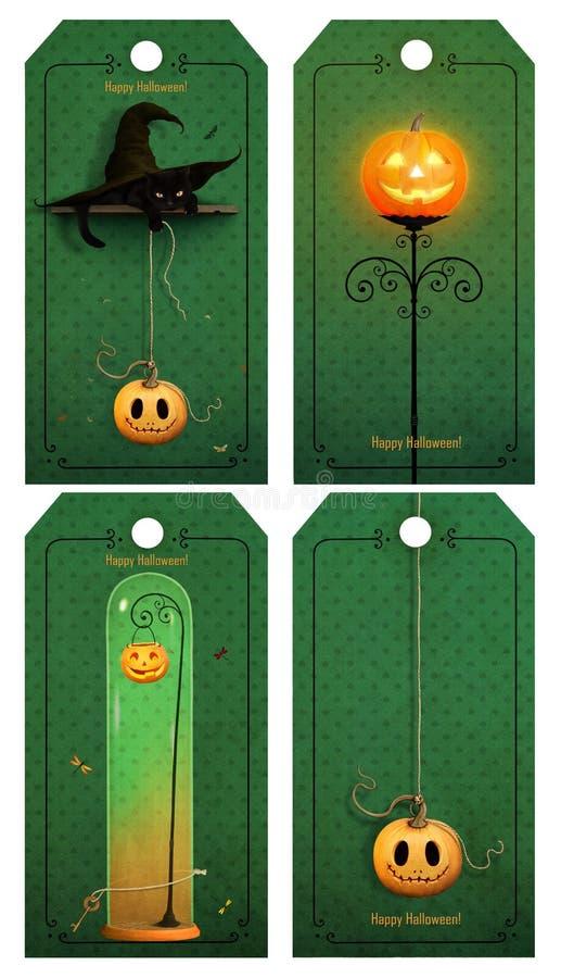 Halloweenowa etykietka royalty ilustracja