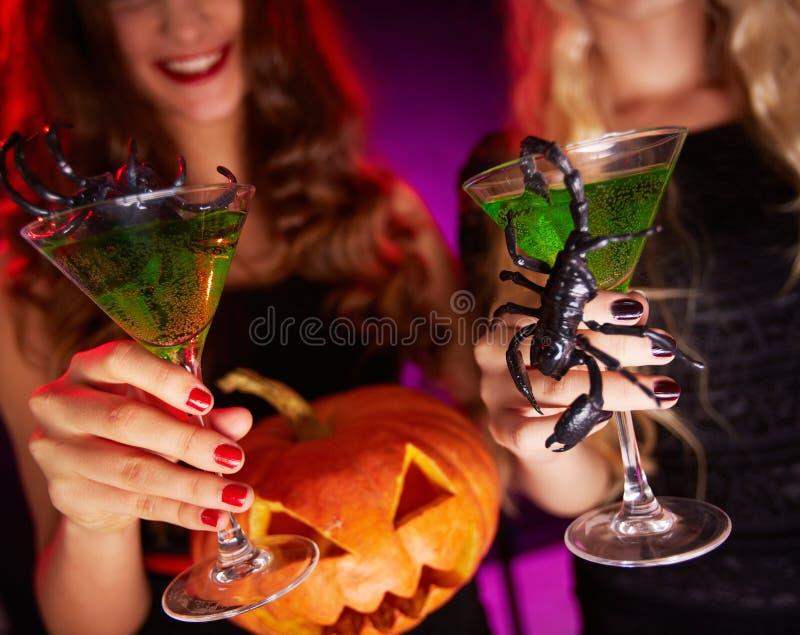 Halloweenowa grzanka fotografia stock