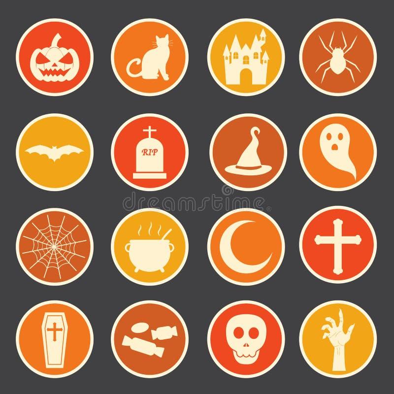 Halloweenowa ikona ilustracji