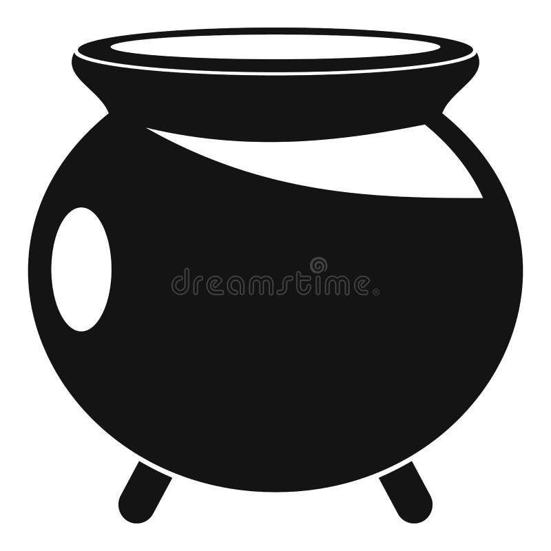 Halloweenowa kocioł ikona, prosty styl royalty ilustracja