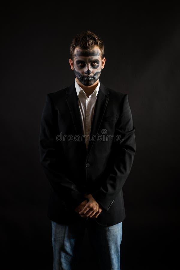 Halloweenowa mężczyzna twarz Malująca obraz royalty free