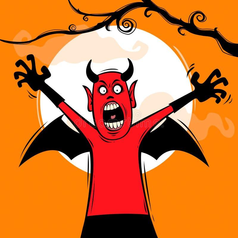 Halloweenowa niespodzianka royalty ilustracja