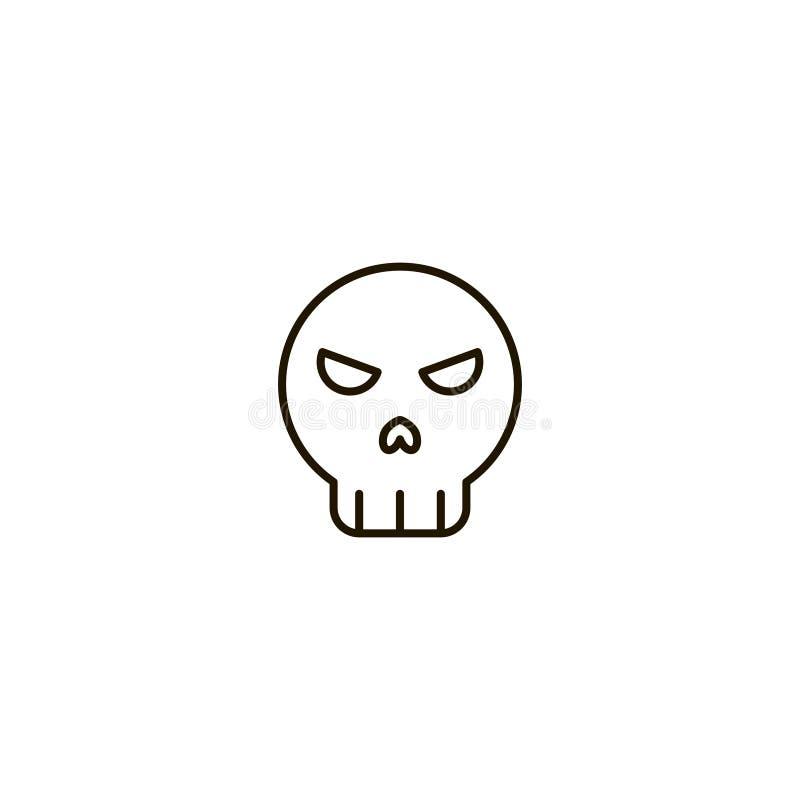 Halloweenowa płaska ikona ilustracji