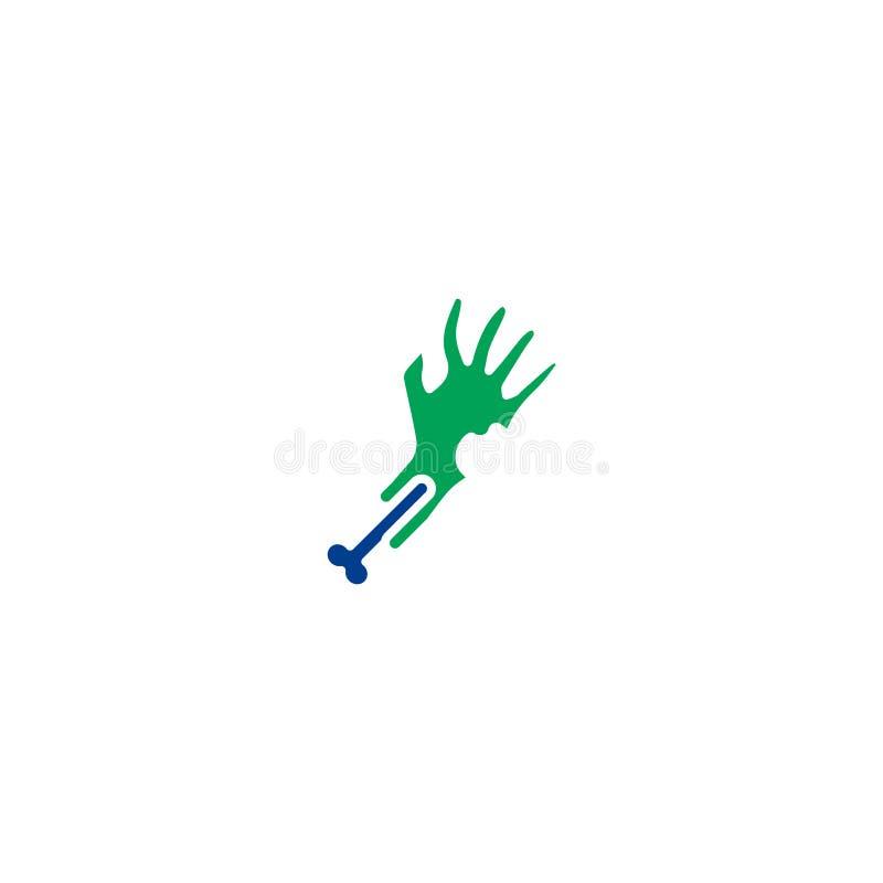Halloweenowa płaska ikona ilustracja wektor