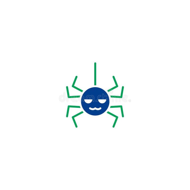Halloweenowa płaska ikona royalty ilustracja