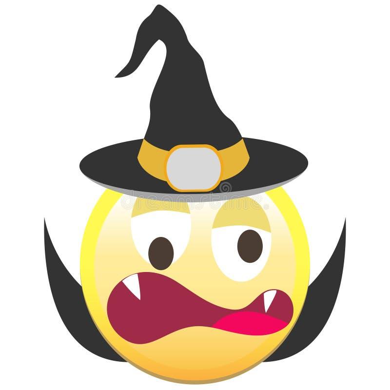 Halloweenowa smiley ikona royalty ilustracja
