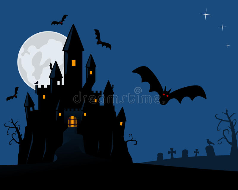 Halloweenowa Straszna Noc ilustracja wektor