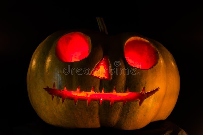 Halloweenowa straszna twarzy bania obraz stock