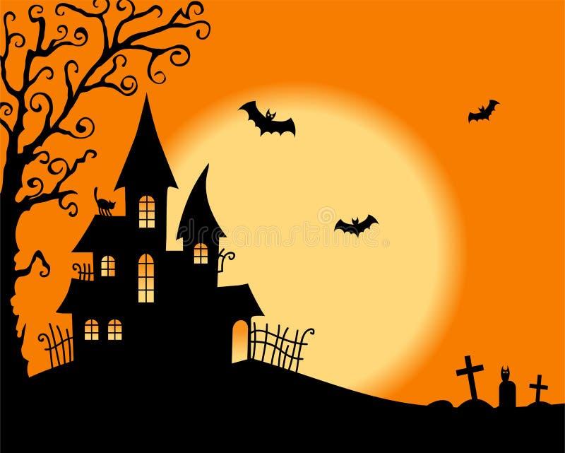 Halloweenowa wektor karta ilustracja wektor