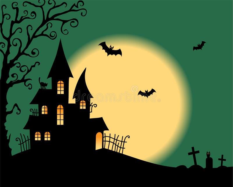 Halloweenowa wektor karta royalty ilustracja