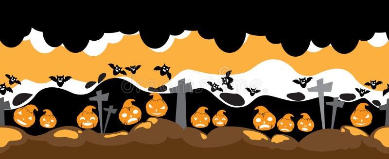 Halloweenowa Wektorowa horror scena royalty ilustracja