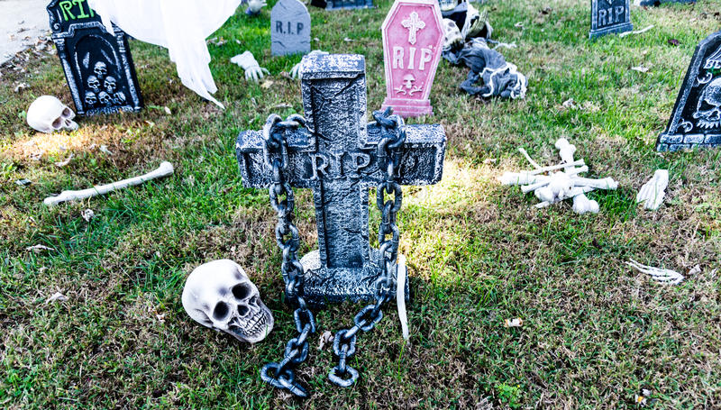Halloweenowe dekoracje fotografia stock