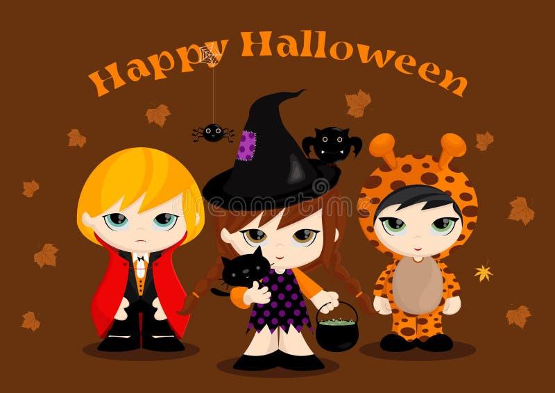Halloweenowe Maskotki ilustracja wektor