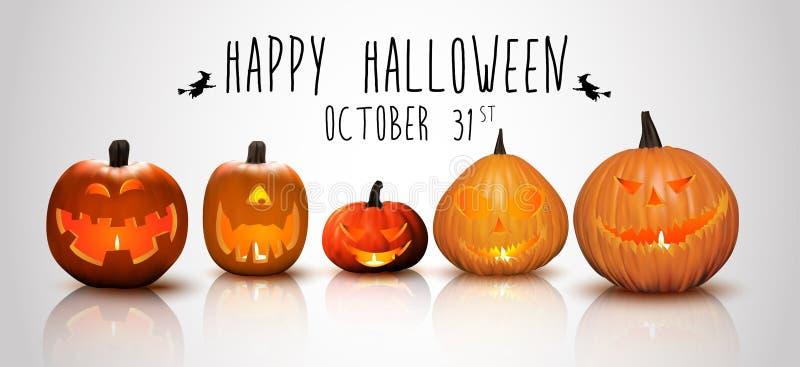 Halloweenowe tło banie ilustracja wektor