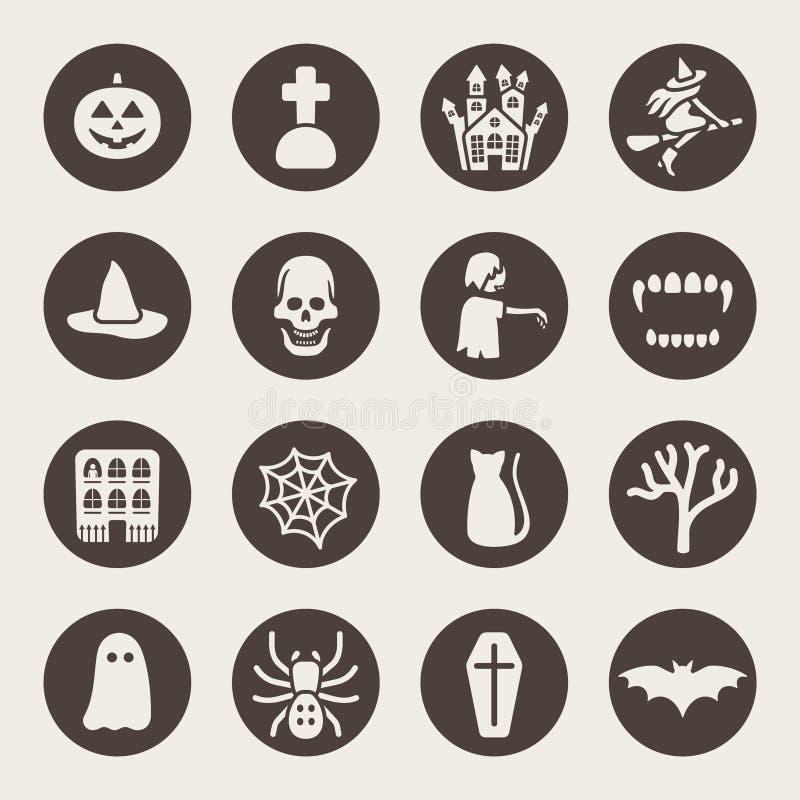 Halloweenowe temat ikony ustawiać ilustracja wektor