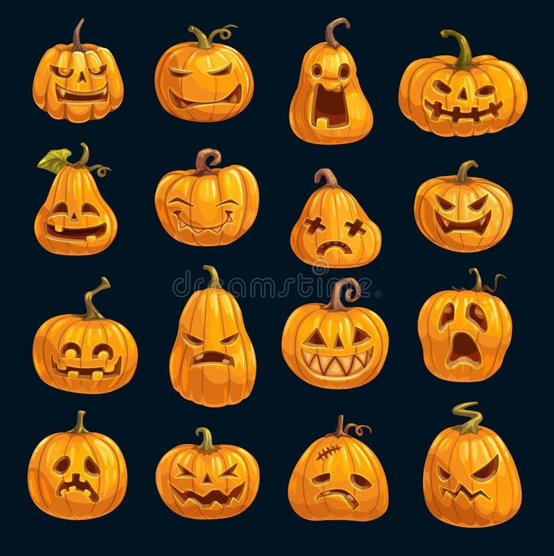 Halloweenowe wakacyjnego przyjęcia kreskówki wektorowe banie ilustracja wektor