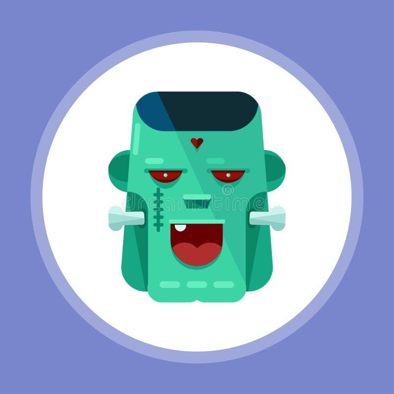 Halloweenowego potwora ikony znaka wektorowy symbol royalty ilustracja