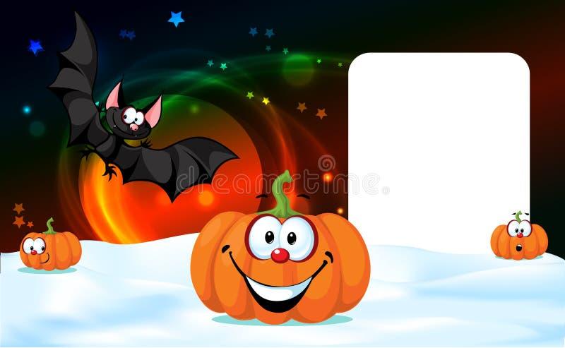 Halloweenowego projekta dyniowa śmieszna wektorowa ilustracja ilustracja wektor
