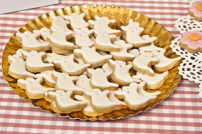 Halloweenowi ciastka obraz royalty free