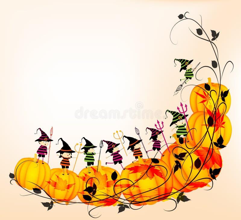 Halloweenowi dzieciaki royalty ilustracja